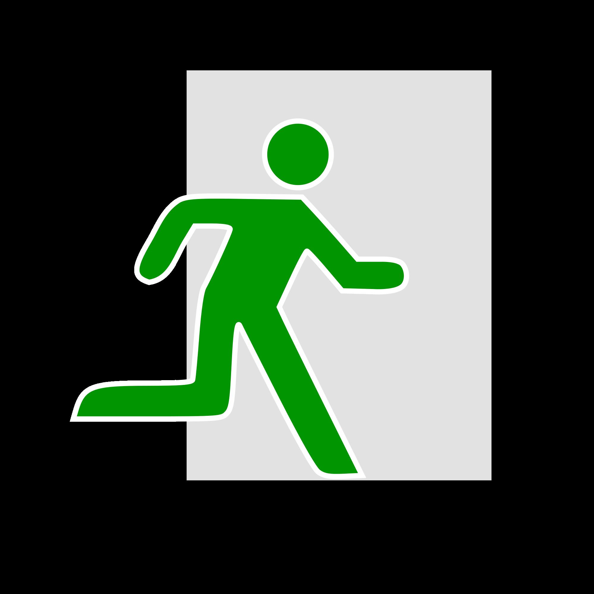 File emergency icon svg. Clipart door green door