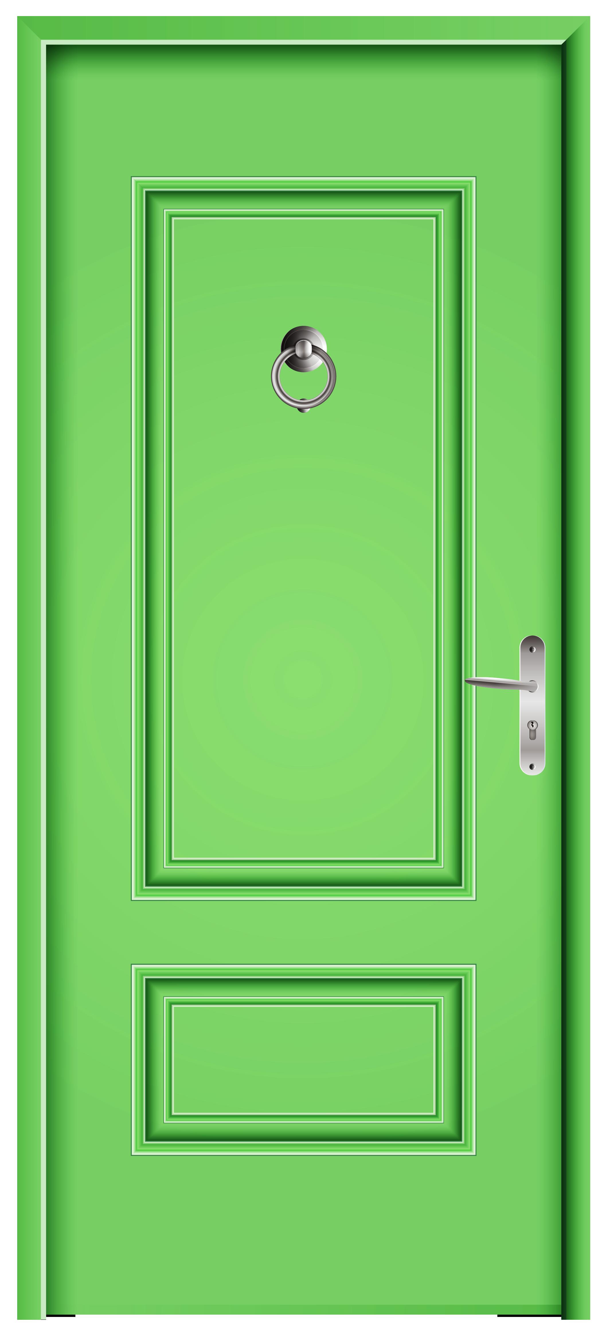 Clipart door green door. Front png clip art