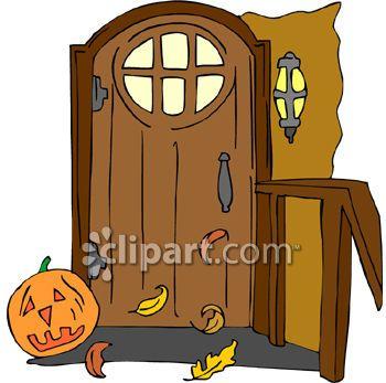 Clipart door halloween. And image com