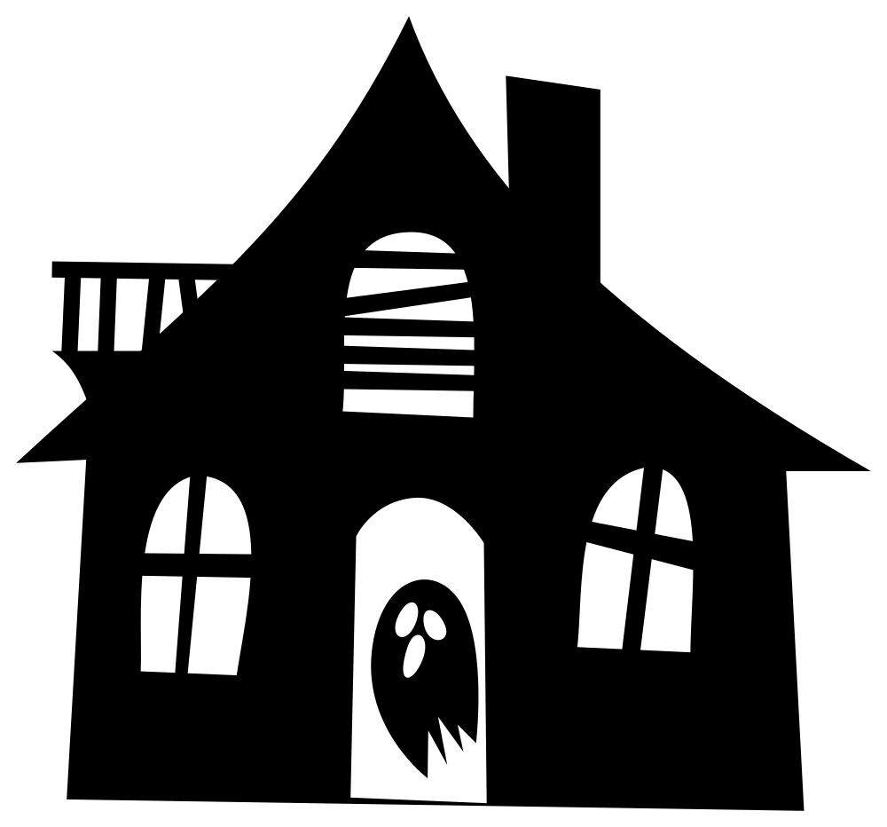 Onlinelabels clip art. Haunted house silhouette png