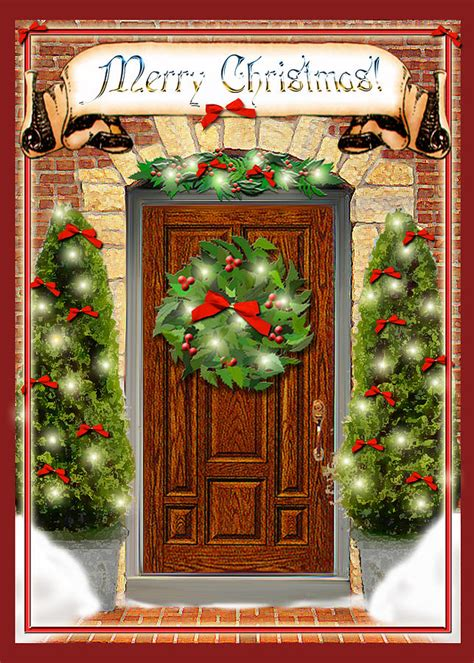 Christmas clip art hawthorneatconcord. Door clipart holiday