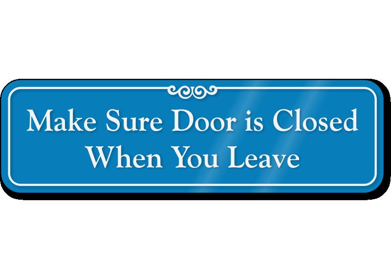 Make sure is closed. Door clipart hospital door