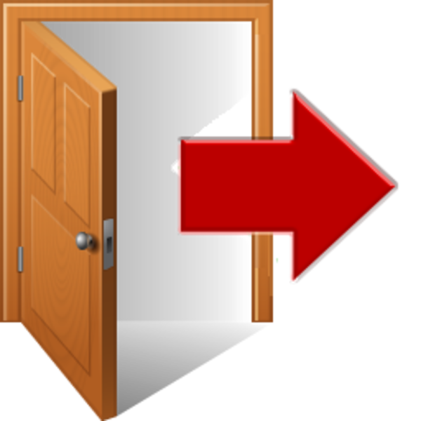 Clipart door illustration. Logout free images at