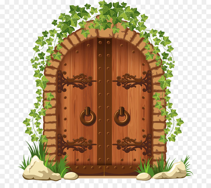 Gate clipart plant grass. Flower door illustration