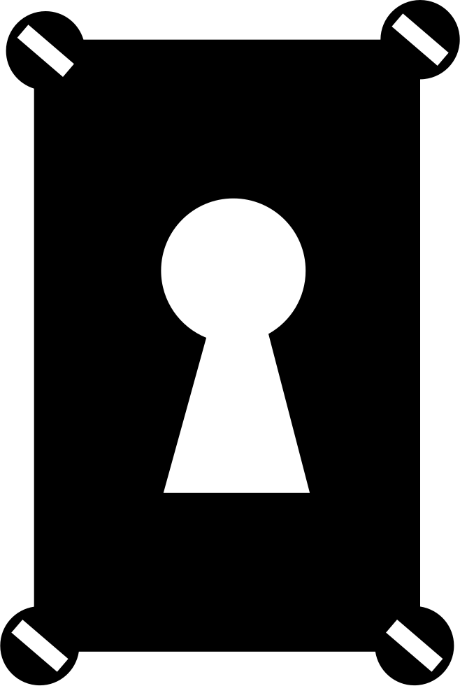 Keyhole in a rectangular. Clipart door key hole