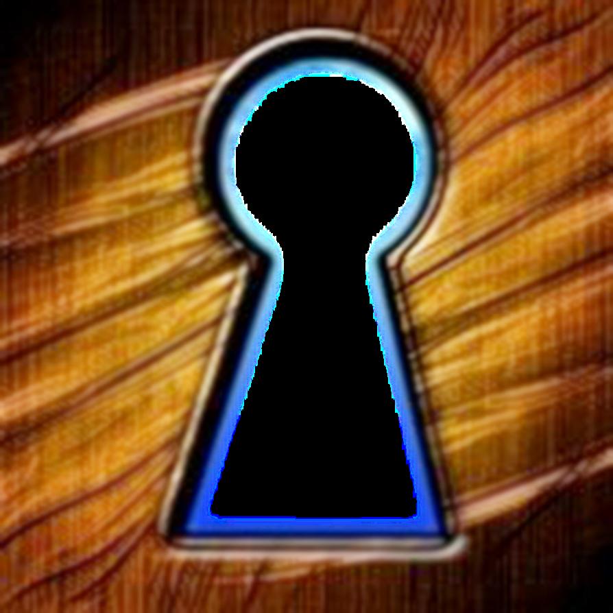 Wood key hole by. Skeleton clipart keyhole