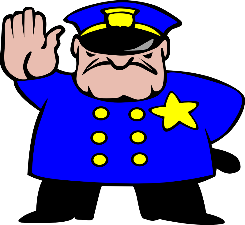 Yearbook clipart cartoon.  collection of police