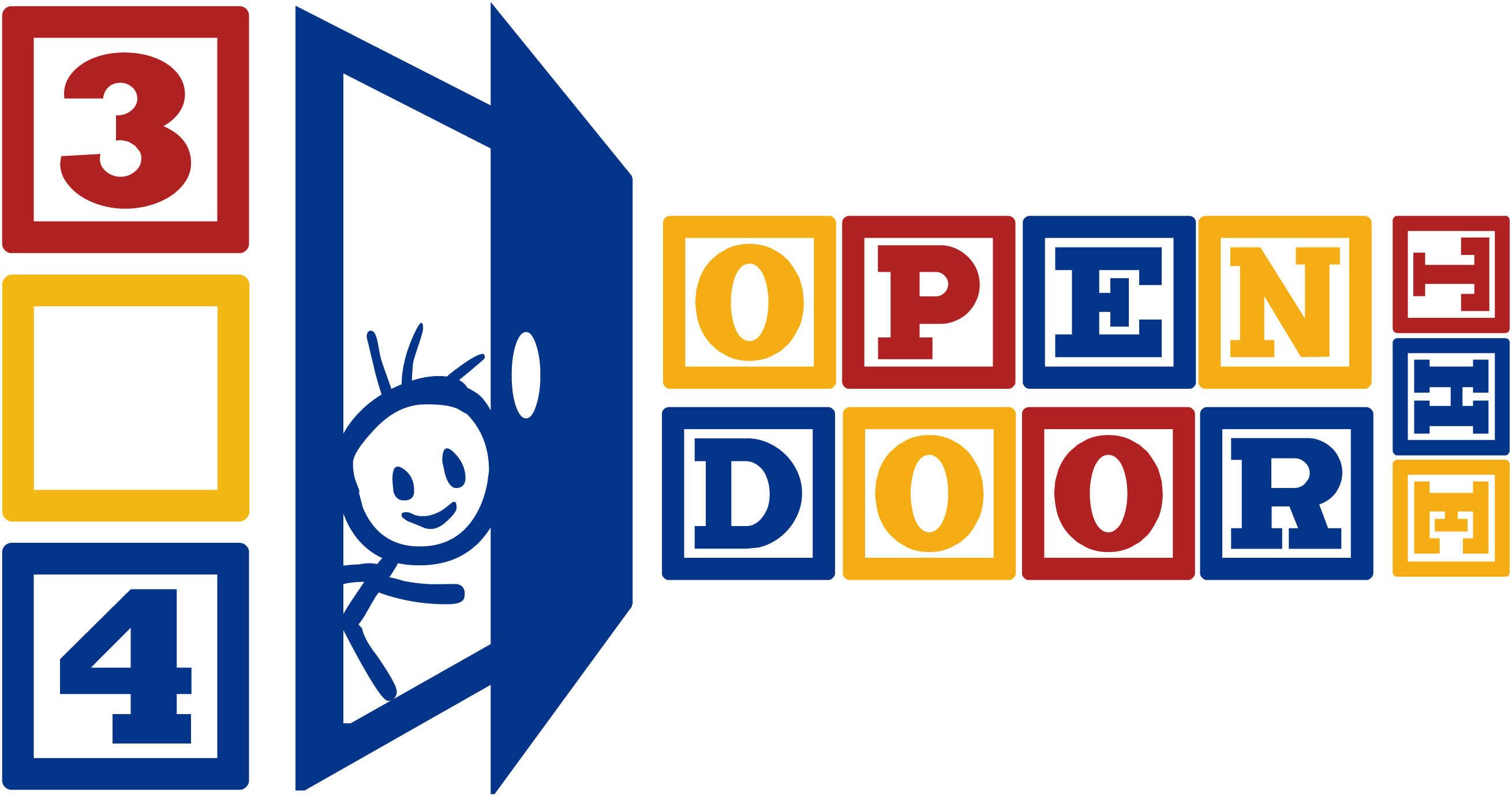 Three four open the. Clipart door office door
