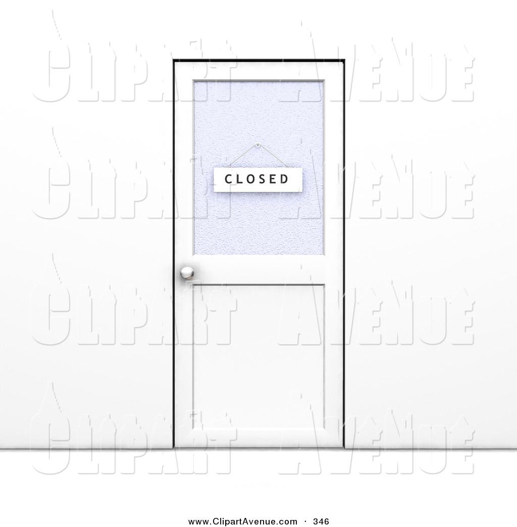 Clipart door office door. Avenue of a closed