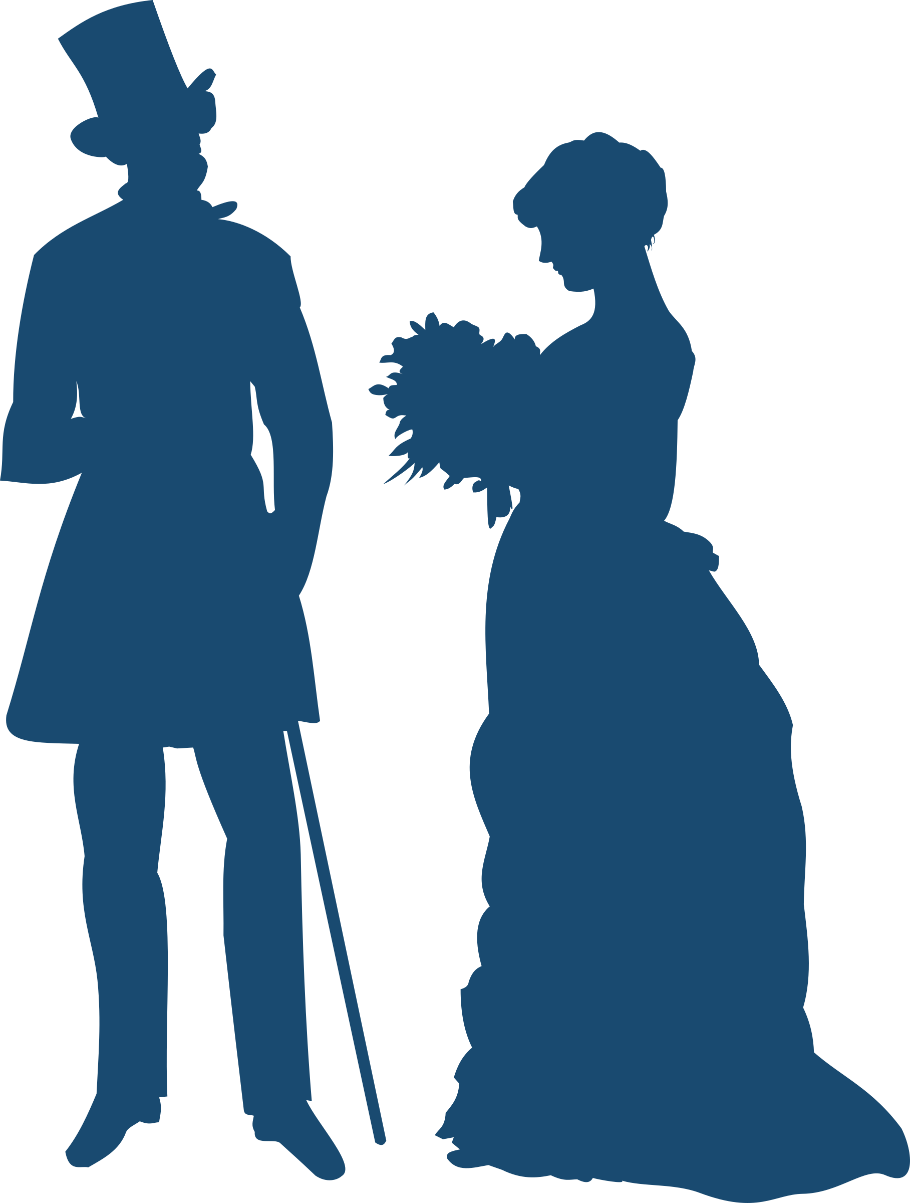 Couple by moini silhouettes. Clipart gun old fashioned