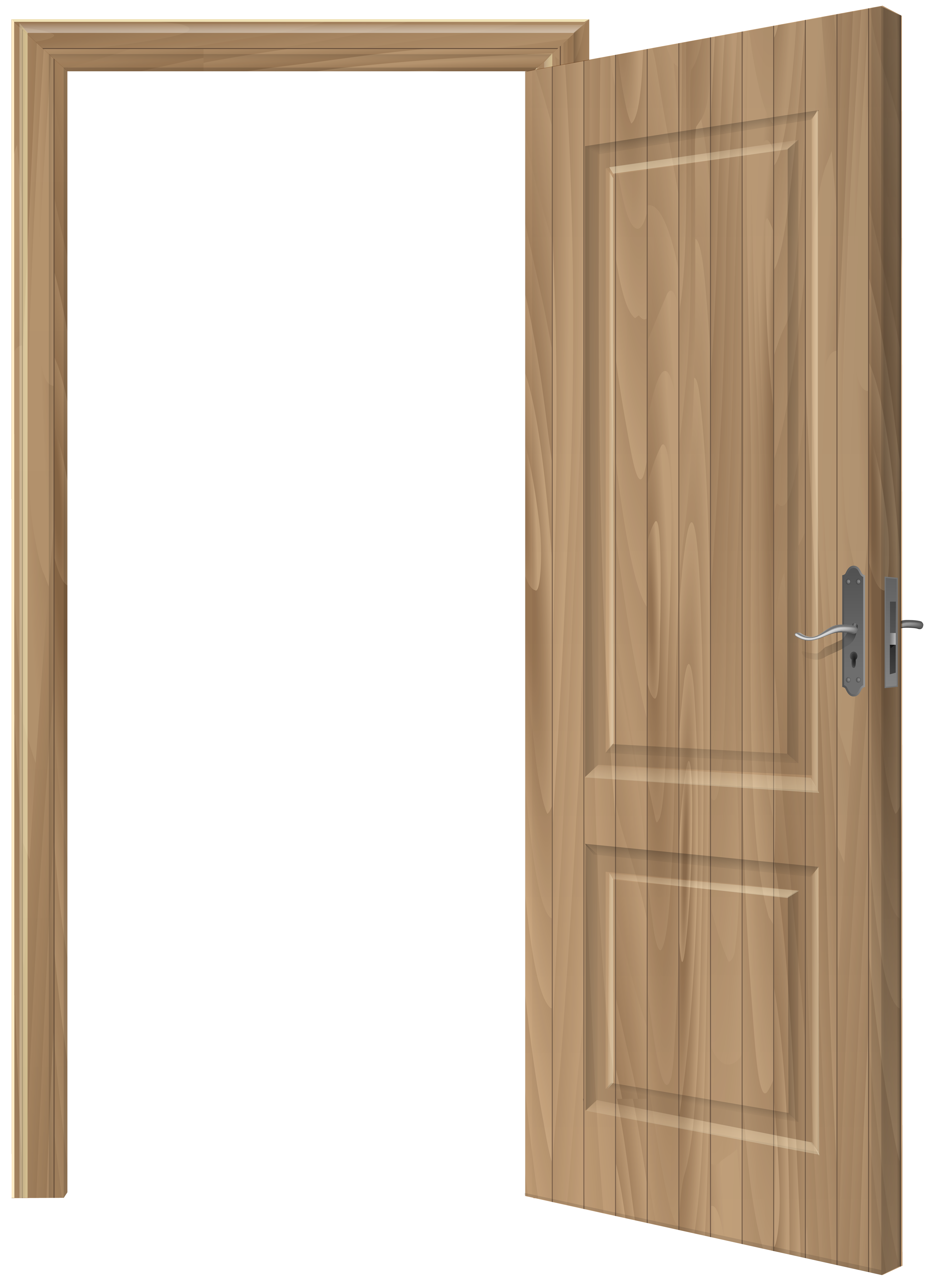 Open wooden png clip. Door clipart opened door