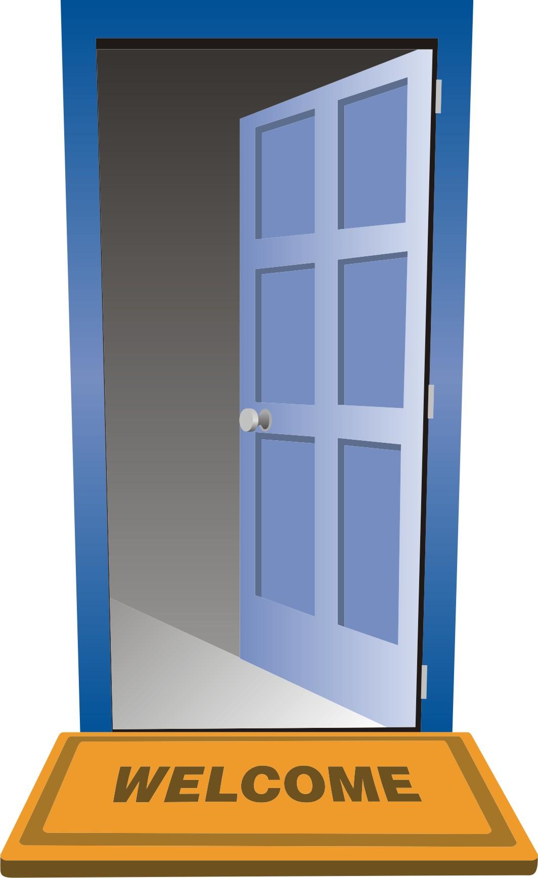 open clip art. Door clipart opened door