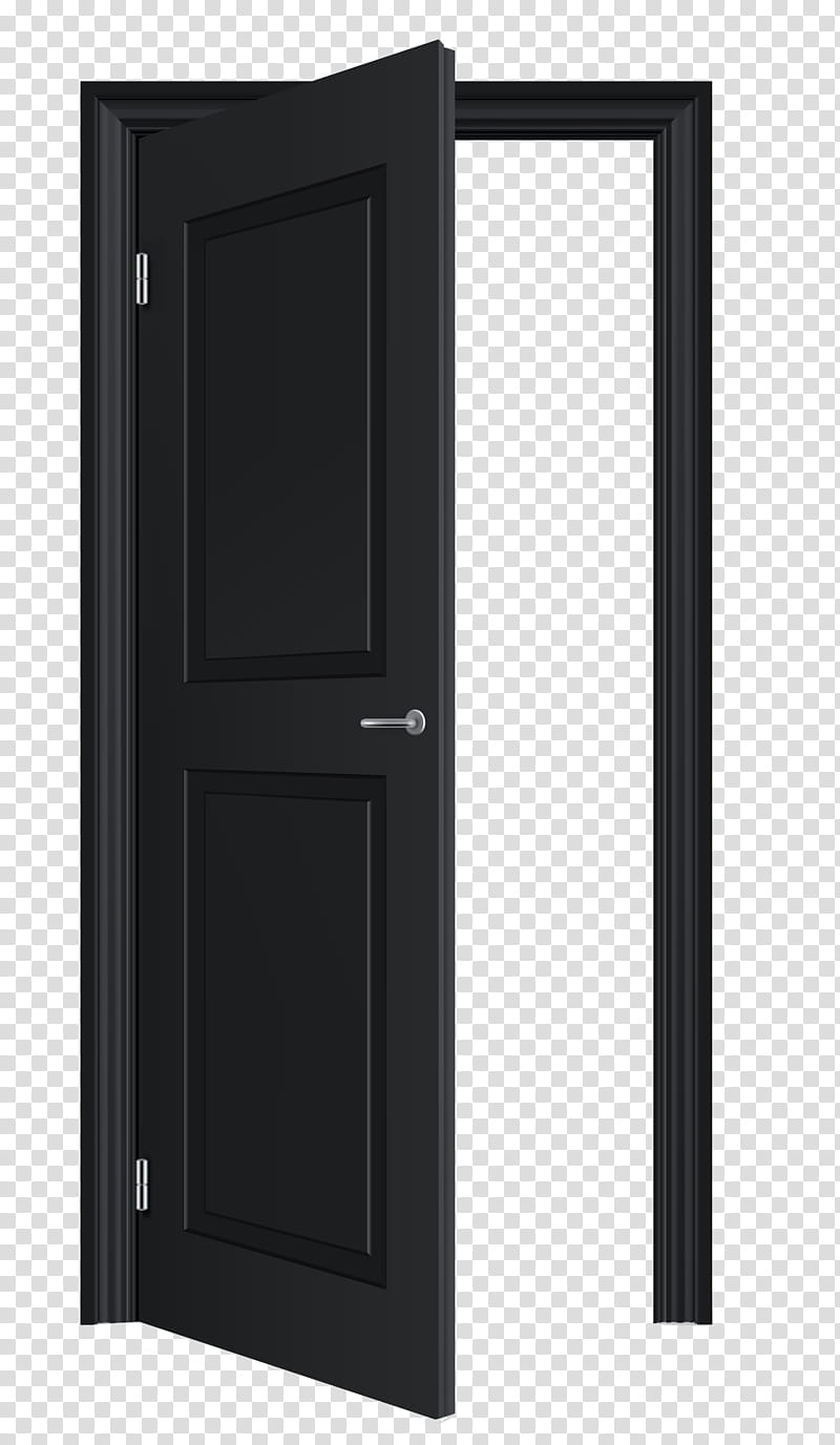 Open black wooden panel. Clipart door opened door