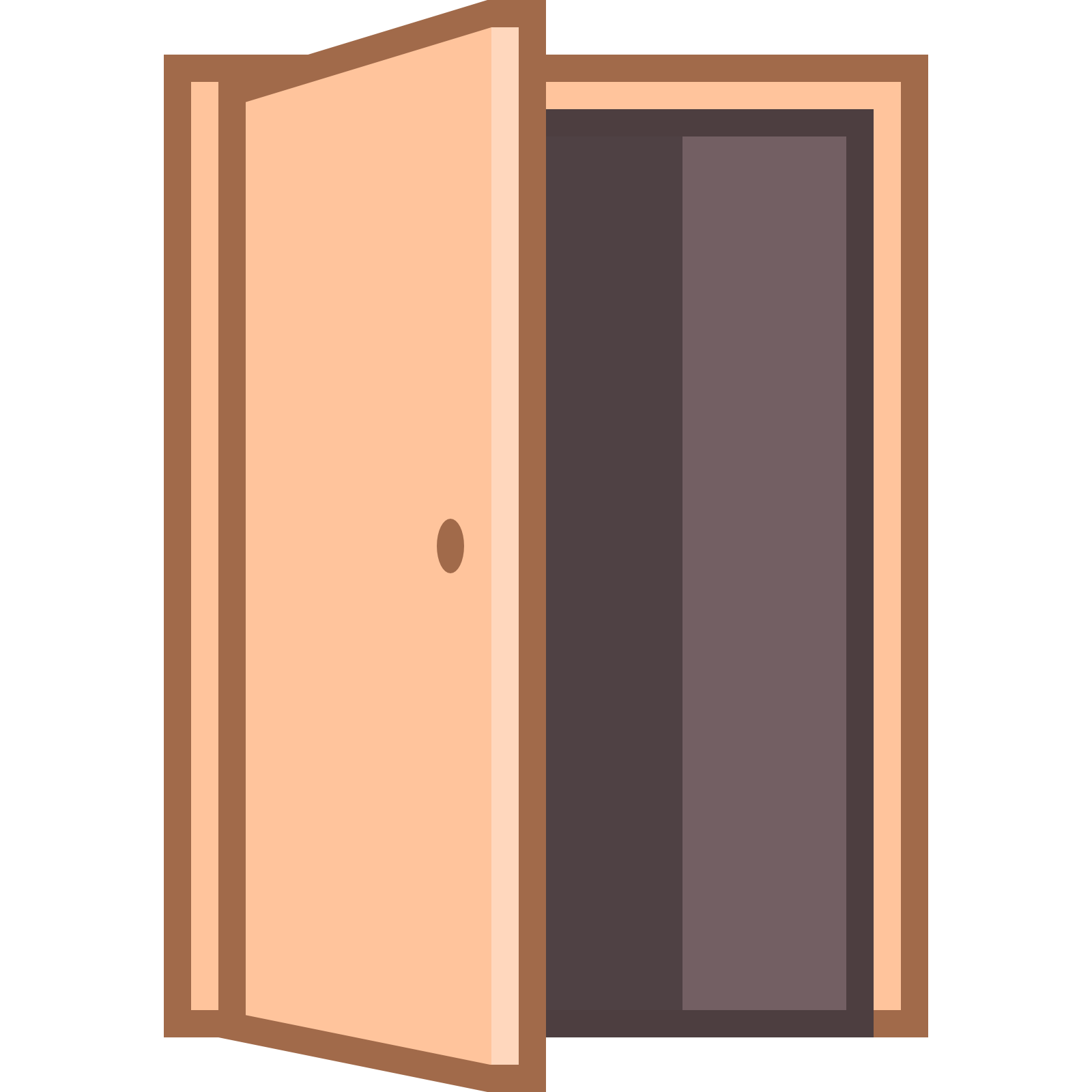 Icon free download at. Clipart door opened door