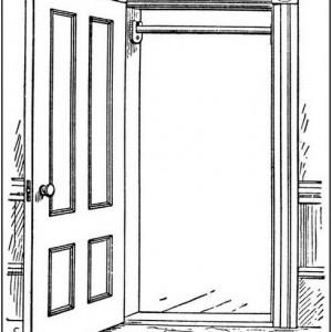 Door clipart rectangle. Free open cliparts download