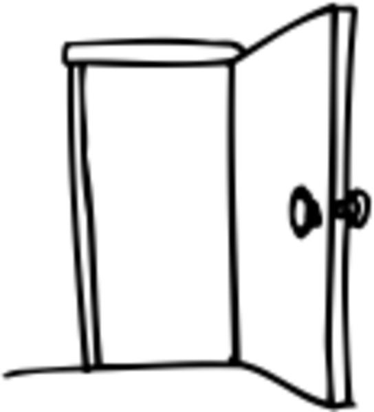 Door clipart opened door. Open free kid gateways