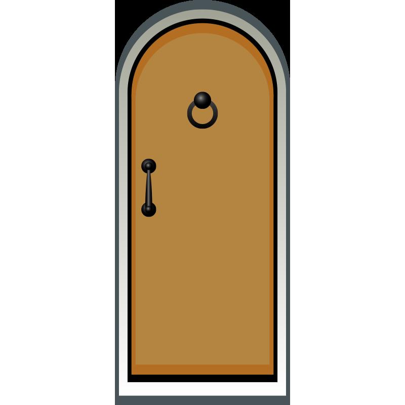 Drawing cartoon transprent png. Clipart door orange door
