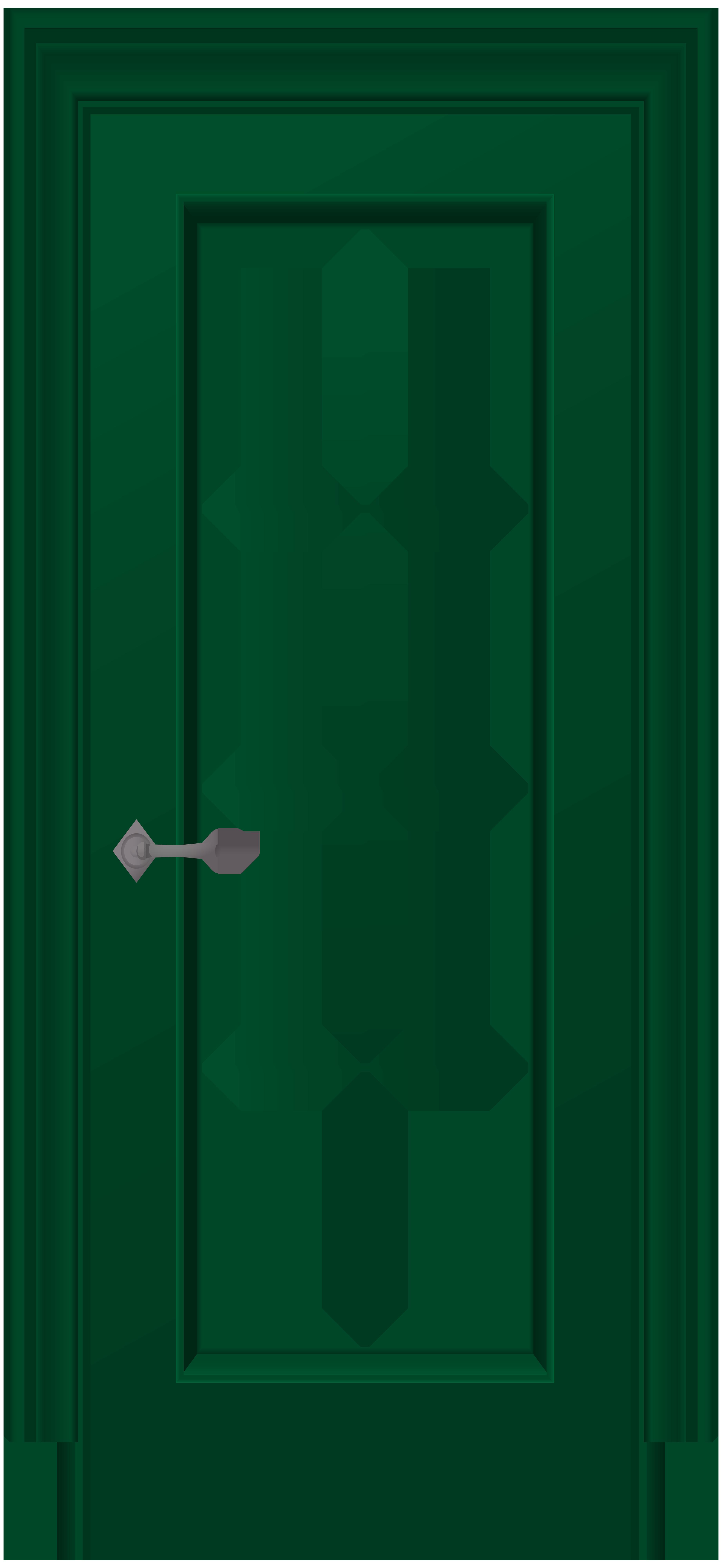 Green png clip art. Clipart door orange door
