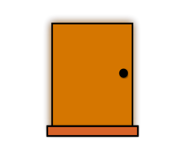 Door clipart orange door. Panda free
