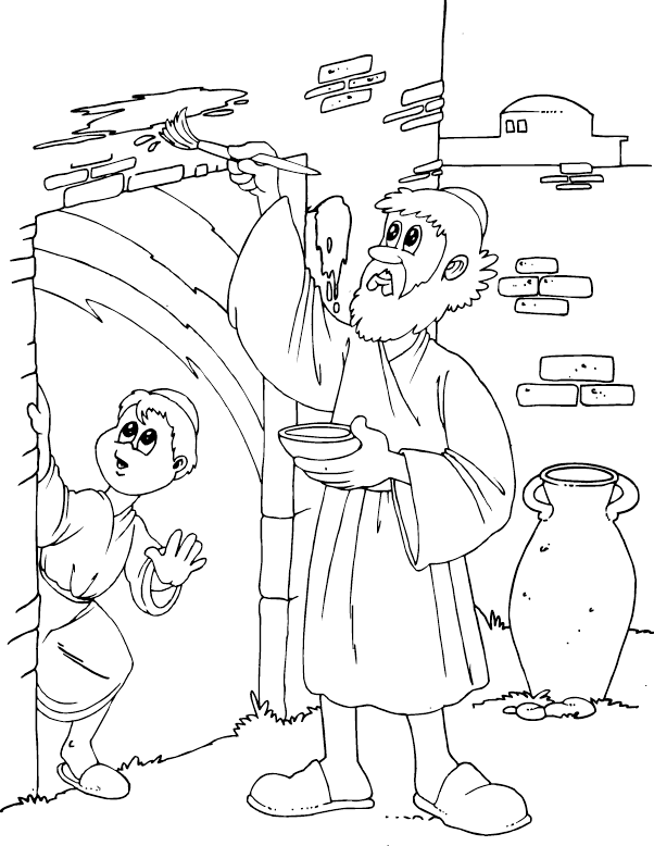 Door clipart colouring page. Passover coloring discipleland pinterest
