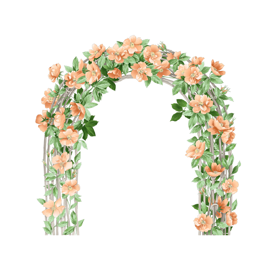 Flower arch png. Wedding clip art door