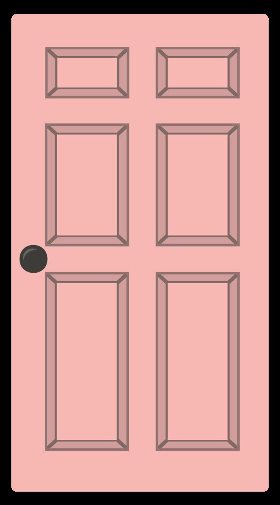Clipart door pink door. House cartoon window transparent