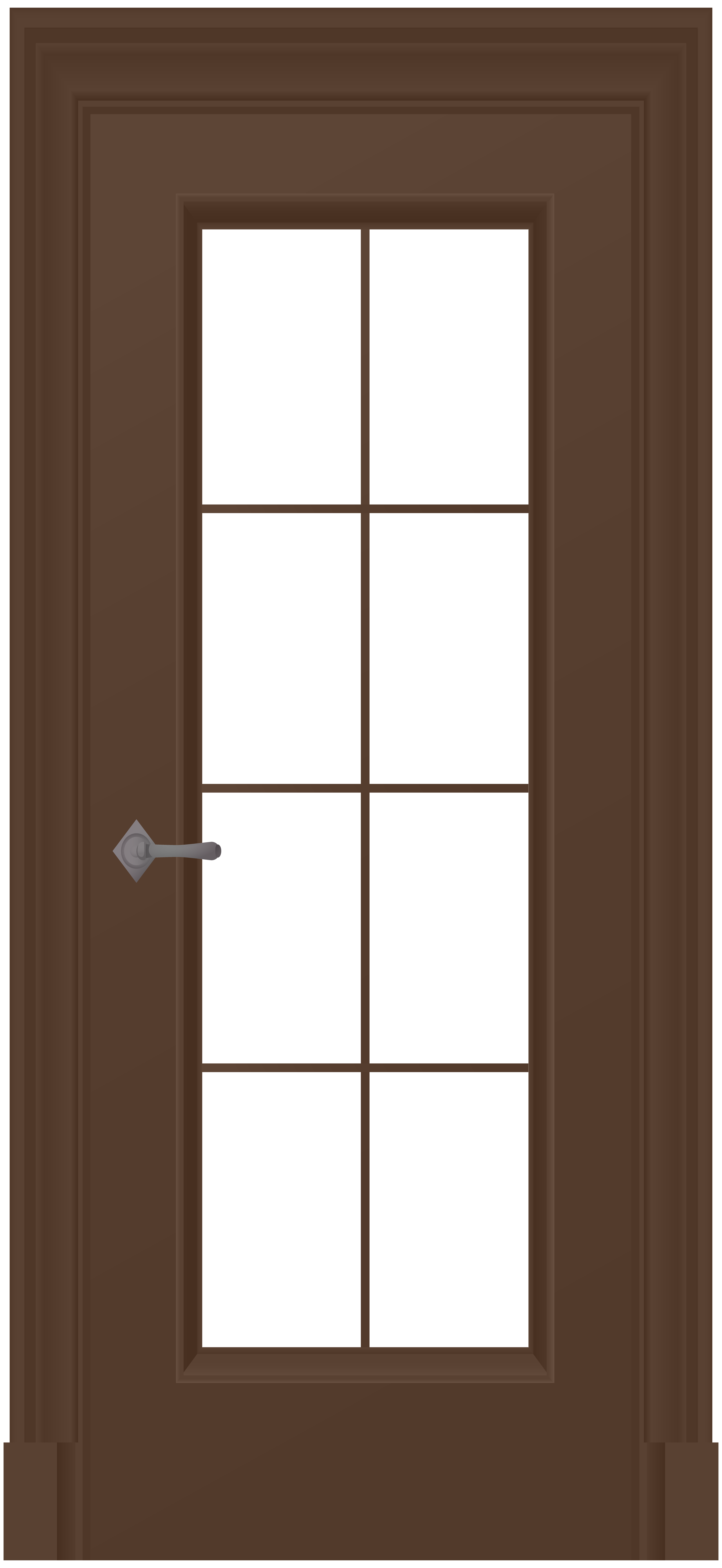 Brown png clip art. Door clipart wood door