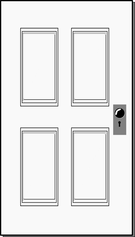 Door clipart line drawing. Rectangle clipartfest cliparting com
