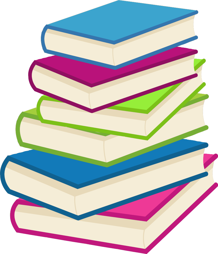 Textbook clipart colourful book. Onlinelabels clip art stack