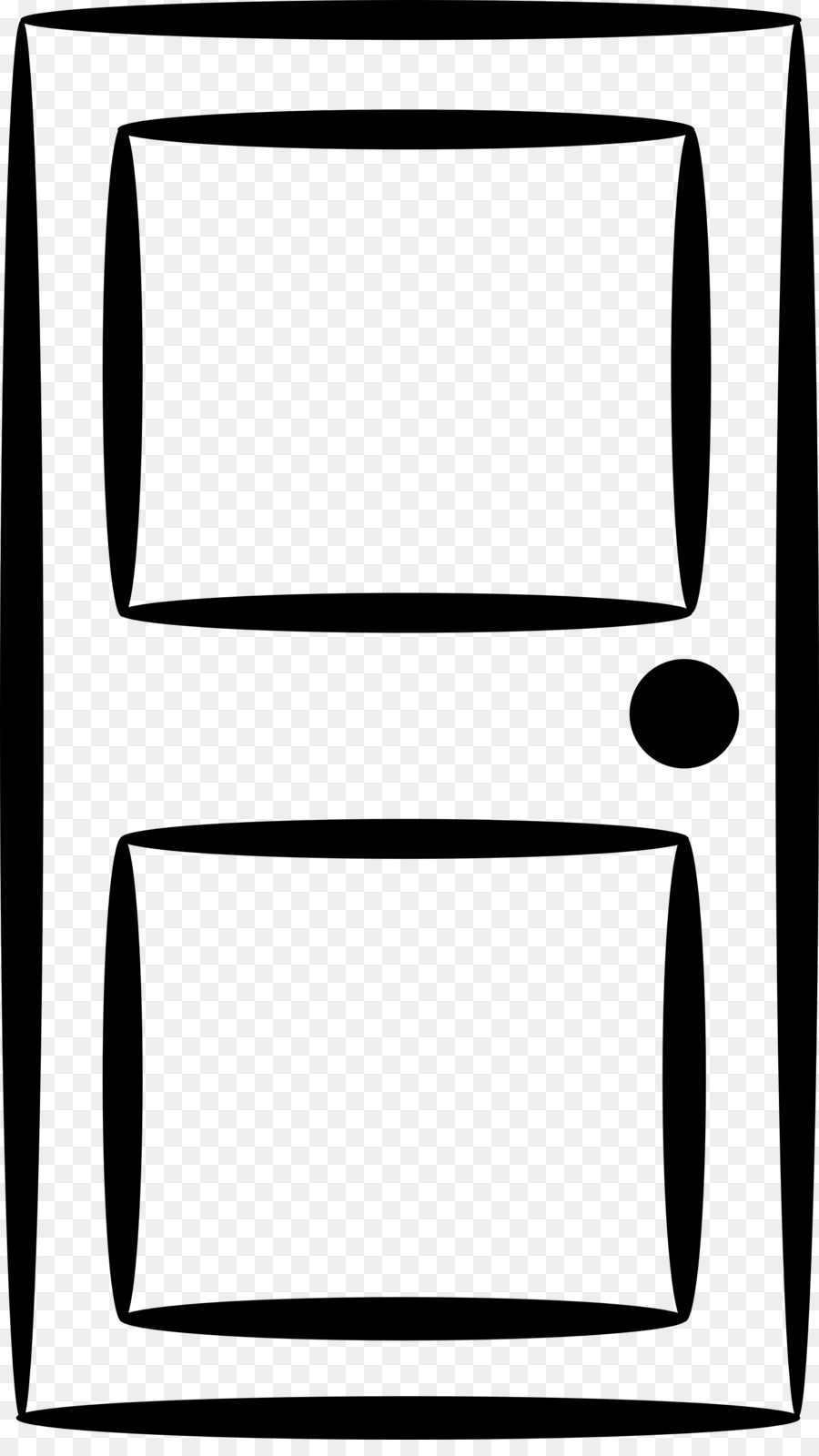 Black line background square. Clipart door rectangle thing