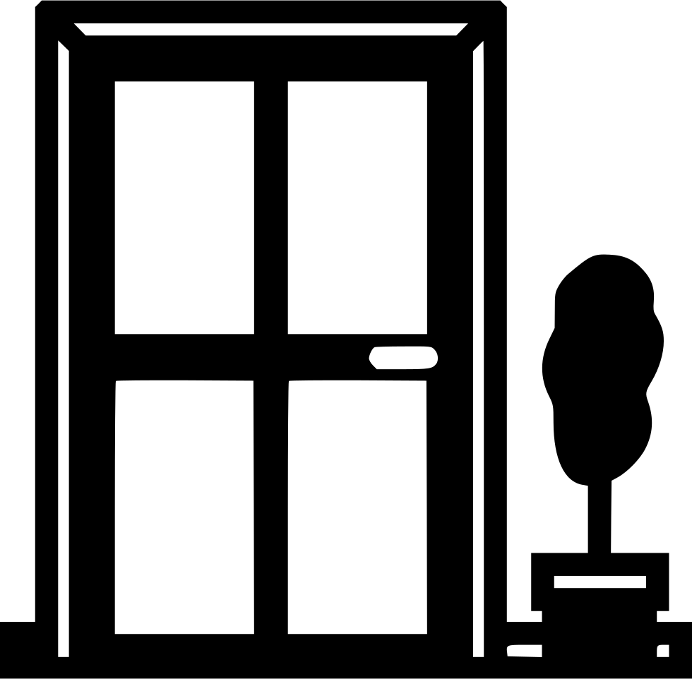 Front svg png icon. Clipart door rectangular object