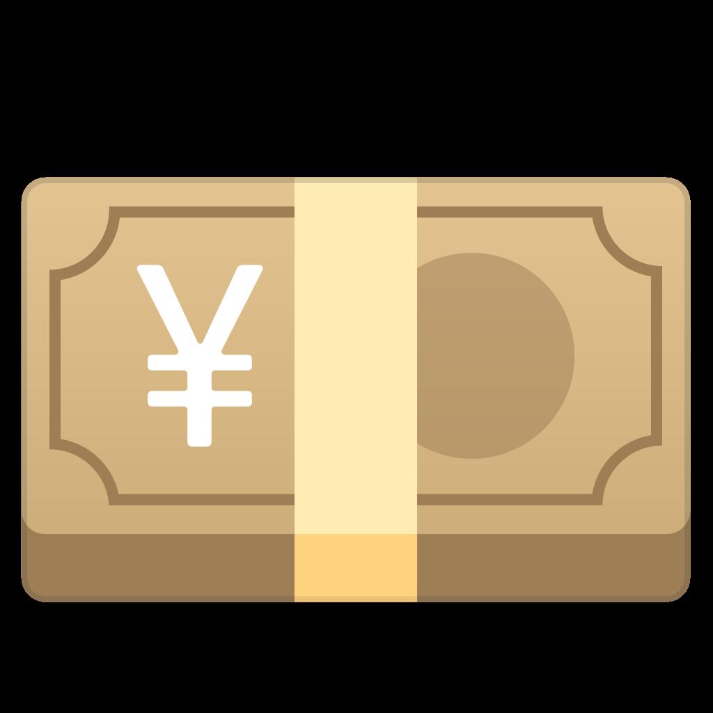 Clipart door rectangular object. Yen banknote icon noto