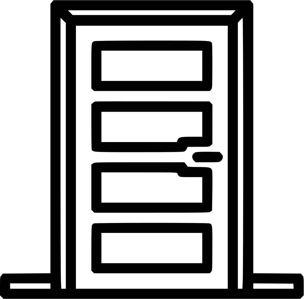 Front svg png icon. Door clipart entrance door