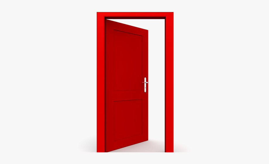 Door clipart red door. Open png free