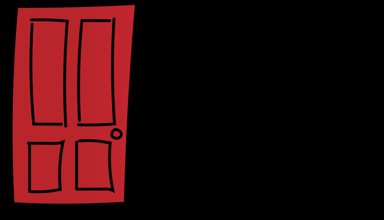 . Door clipart red door