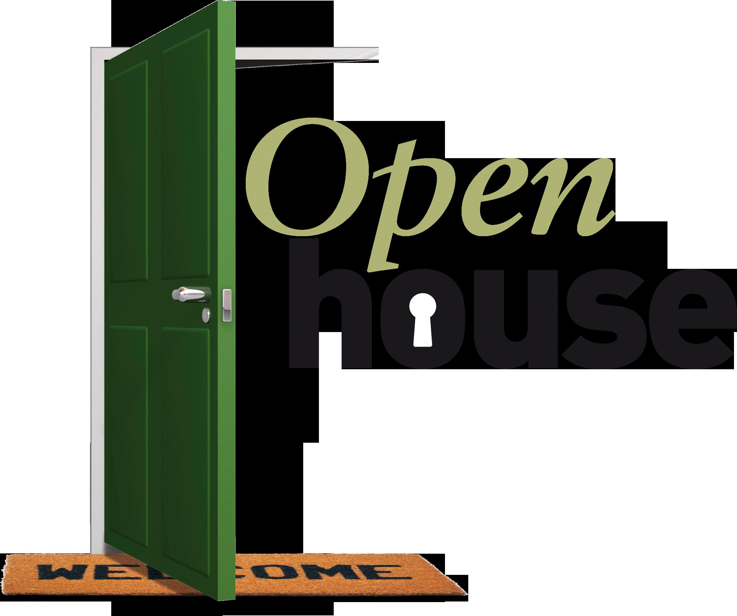 Clipart door sideways. Open house pencil and