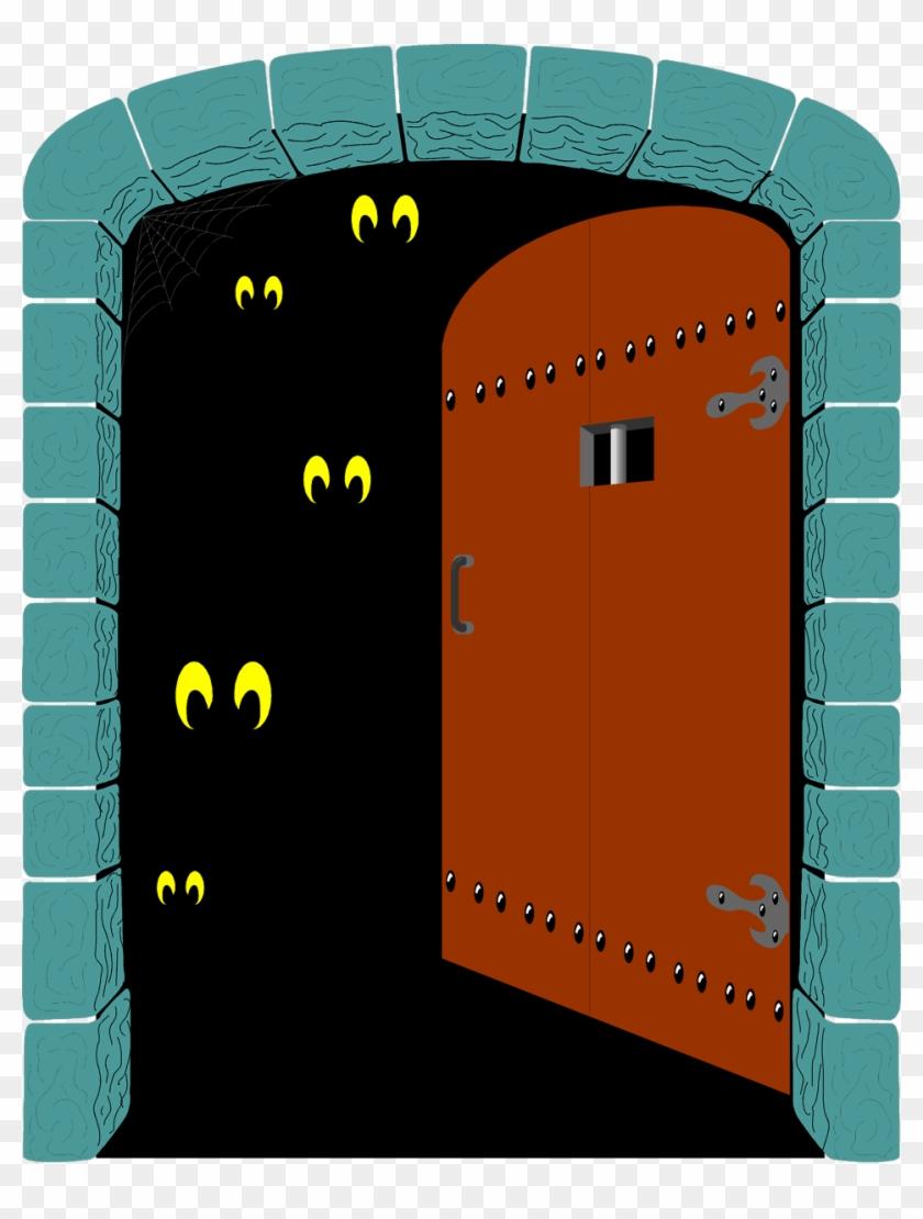 Creepy open hd png. Clipart door spooky