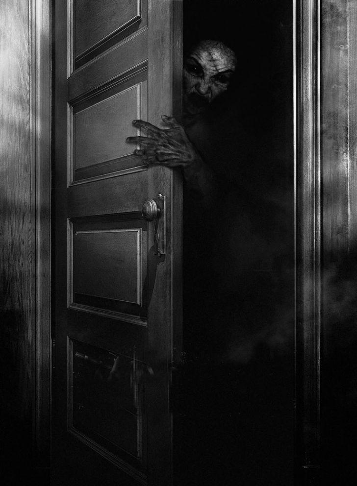 Free spooky cliparts download. Door clipart creepy