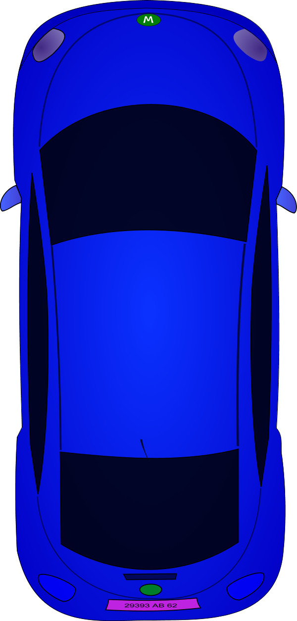 collection of car. Minivan clipart top view