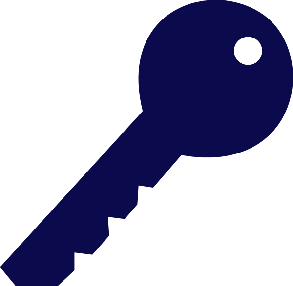 Keys clipart key detail. Blue clip art at