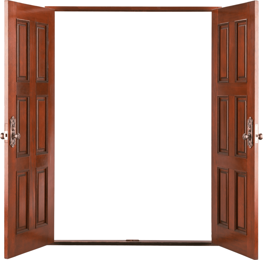 Door clipart wood door. Open wooden png free