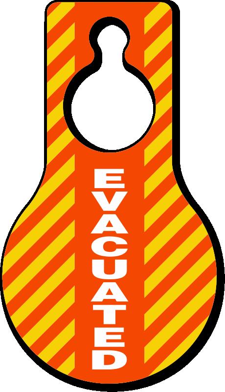 Evacuated hangers blank zoom. Door clipart yellow door