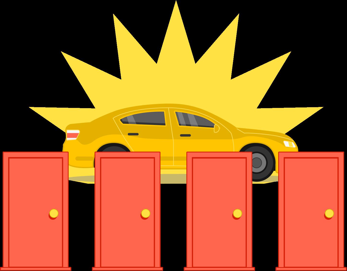 Door clipart yellow door. Monty hall problem brilliant