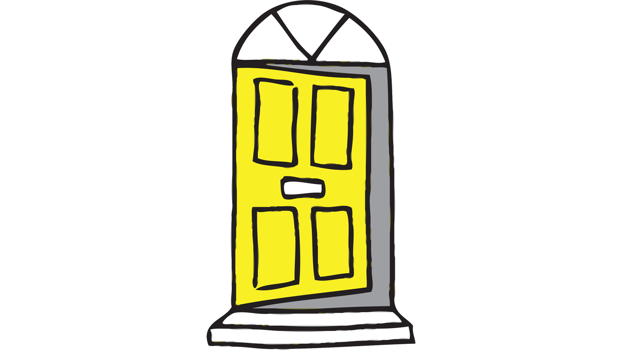 Door clipart plan. Yellow free on dumielauxepices