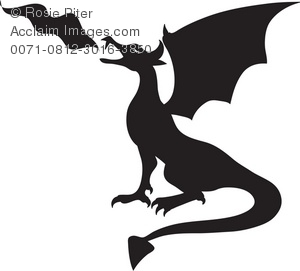 Clipart dragon. Royalty free illustration of
