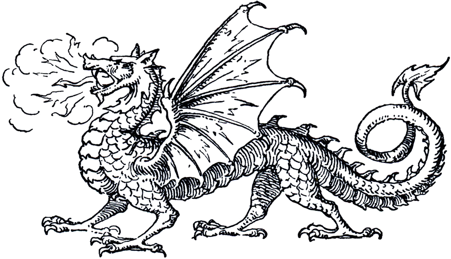 Free clip art the. Clipart dragon