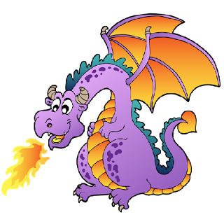 Clipart dragon. Free funny dragons with
