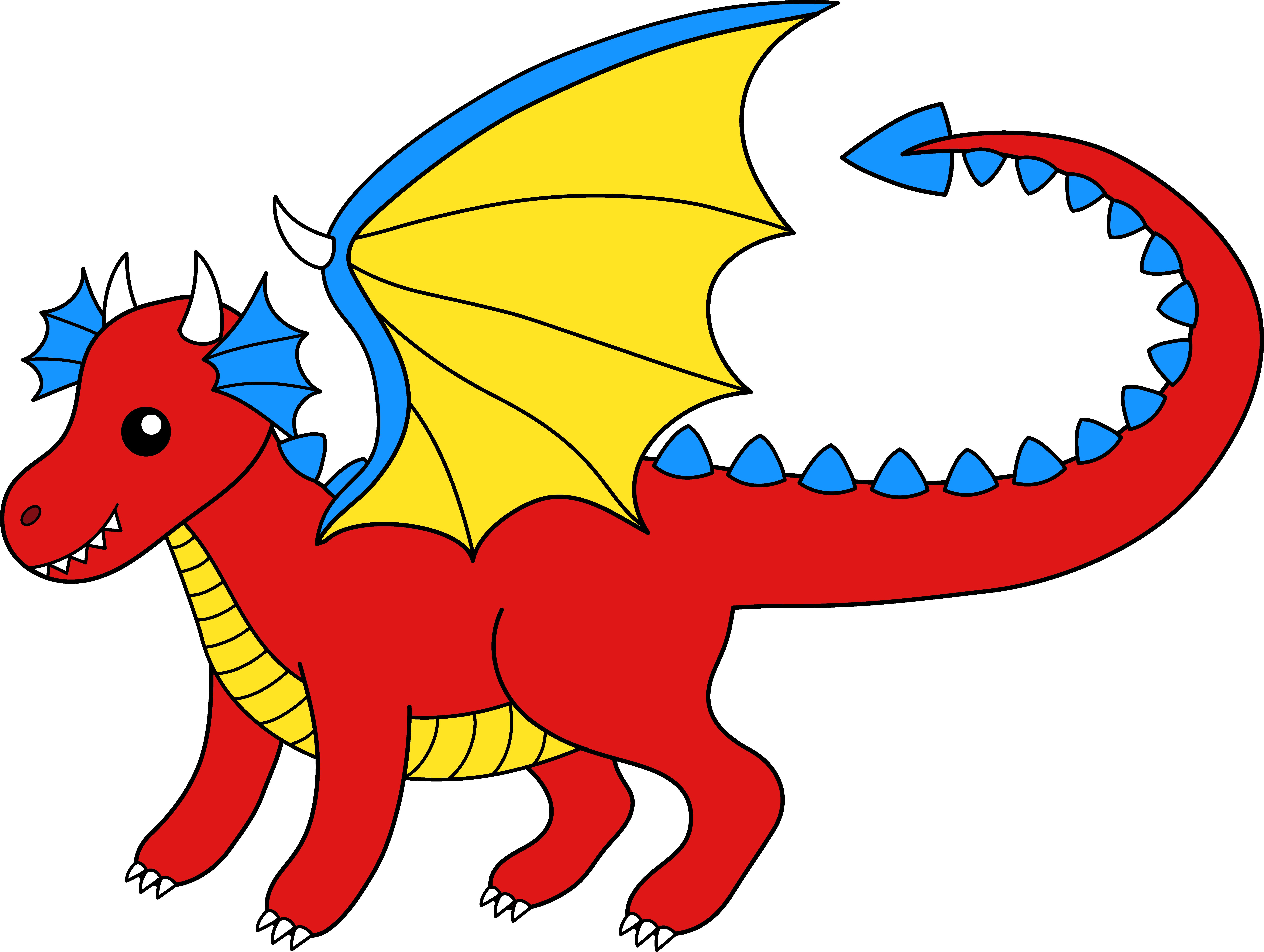 Dragon clip art images. Magician clipart folklore
