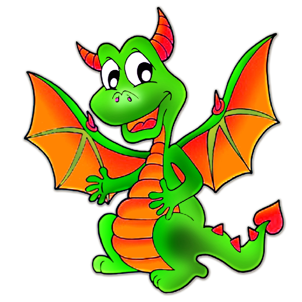 Clipart football dragon. Drawing easy step by