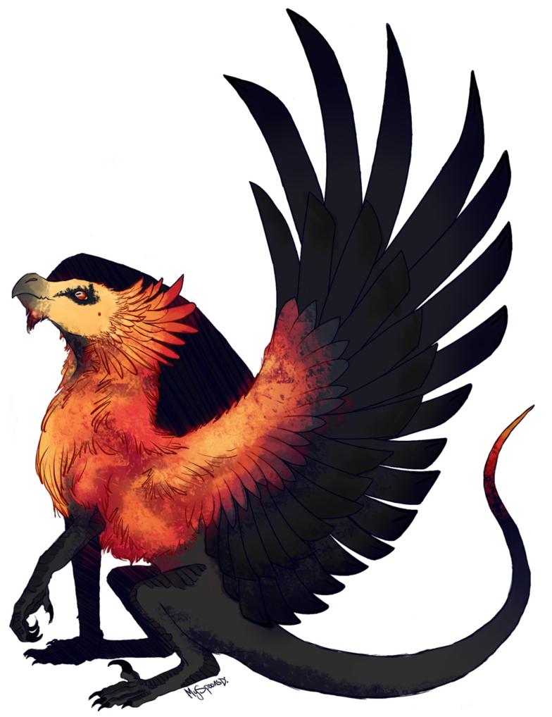 Wing clipart vulture. Bearded dragon done art